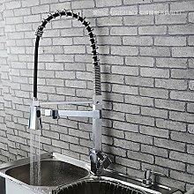 JinRou modernes Badezimmer Waschtisch Armatur Wasserhahn Küche Moderne Wasserfall ausziehbaren Griff mit kalten und warmen Taps