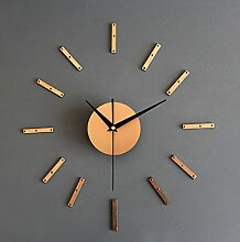 Jinrou Persönlichkeit die kreative Kombination von Stilvolle Wanduhr Diy Clock Clock die Stummschaltung einfache Dekorationen Geschenke , Gold. Nie