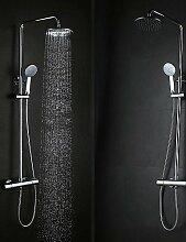 JinRou Stilvolle Badezimmer Wasserhahn Regendusche Zeitgenössisch Regenfall Messing Chrom