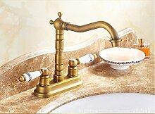 JinRou Zeitgenössische /modern creative Küchenarmatur Küchenarmatur Armatur Antik Kupfer antik vintage Waschbecken Wasserhahn Kupfer Küche Armaturen vintage