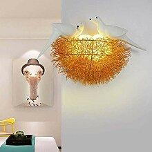 JINRU Wandlampe LED Modern Wandlampen Vogelnest