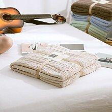 JINSH Home Baumwolle gepolsterte Decke Büro