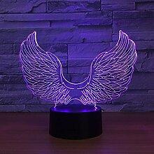 Jinson well 3D engel flügel Lampe optische