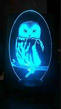 Jinson well 3D eulen adler Lampe optische Illusion
