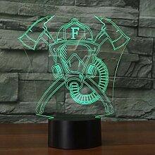 Jinson well 3D feuerwehr maske Lampe optische