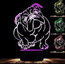 Jinson well 3D Französischer Bulldog Lampe led