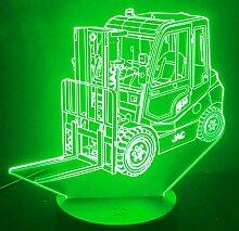 Jinson well 3D Gabelstapler Lampe optische