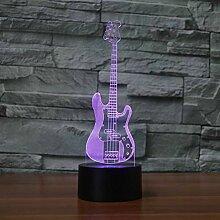 Jinson well 3D gitarre Lampe optische Illusion
