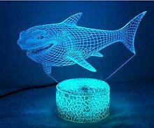 Jinson well 3D hai fisch Lampe optische Illusion