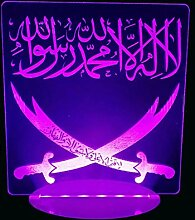 Jinson well 3D Islamischer Muhammad Lampe led