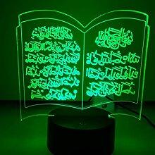 Jinson well 3D Islamischer Muslim Lampe optische