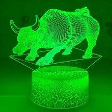 Jinson well 3D Kuh Bulle Lampe optische Illusion