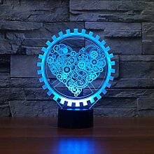 Jinson well 3D Liebe Herz Lampe led Illusion