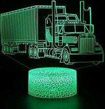Jinson well 3D LKW Nachtlicht Lampe optische Nacht