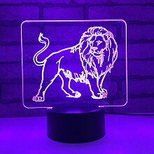 Jinson well 3D Löwe Lampe led Illusion