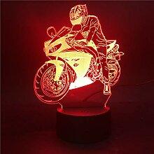 Jinson well 3D Motorrad Lampe optische Illusion