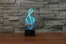 Jinson well 3D Musiknote Musik Lampe led Illusion