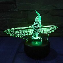 Jinson well 3D Papagei Lampe led Illusion