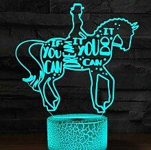 Jinson well 3D Pferd Lampe optische Illusion
