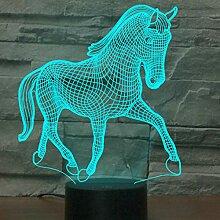 Jinson well 3D pferd Nachtlicht Lampe optische