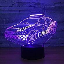 Jinson well 3D polizei auto Nachtlicht Lampe