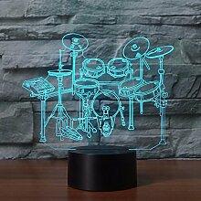Jinson well 3D rack schlagzeug Nachtlicht Lampe