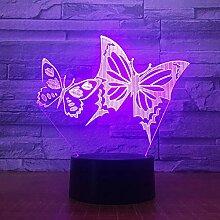 Jinson well 3D schmetterling Lampe optische