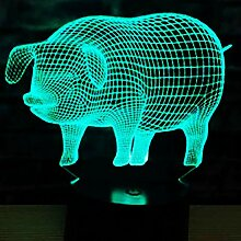 Jinson well 3D Schwein Lampe led Illusion