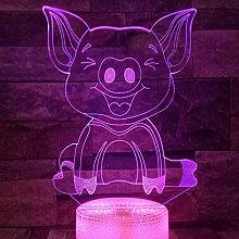 Jinson well 3D Schwein Lampe optische Illusion