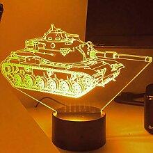 Jinson well 3D Tank Nachtlicht Lampe optische