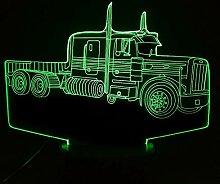 Jinson well 3D Traktor Lkw Auto Lampe led Illusion