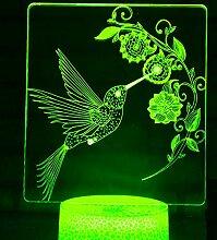 Jinson well 3D Vogel Lampe optische Illusion
