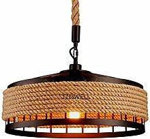 JINWELL Hängelampe Vintage Seilampe Pendelleuchte