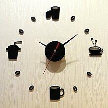 Jinxu 14 Zoll Diy Digitale Uhr Wohnzimmer Dekorative Kunst Watch Mute Acryl Wanduhr, 14 Zoll, Rom Digital Ro