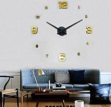 Jinxu 20 Zoll Diy Sofa Hintergrund übergroßen Wohnzimmer dekorative Wanduhr Wanduhr Wanduhr Acryl, Digital-TV, 20 Zoll, schwarze Zifferblatt Zeiger