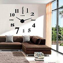 Jinxu 20 Zoll großes Wohnzimmer Wanduhr Home Diy Digitaluhr Watch, 20 Zoll Classic Schwarz