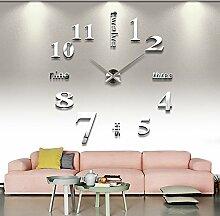 Jinxu 20 Zoll großes Wohnzimmer Wanduhr Home Diy Digitaluhr Watch, 20 Zoll Mode Silber