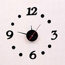 Jinxu Acryl Wanduhr DIY-Clock Digital Clock Home Ausstattung dekorative Uhr Quarzuhr, Schwarz