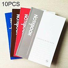 Jinyang Notebook 10 STÜCKE 100 Seiten A5 Soft