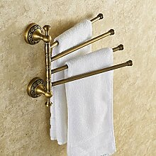 JinYiDian'Shop-Badezimmer Accessoires, Badezimmer oder Küche Handtuchhalter Halter Wandhalterung Storage Rack, Organisieren Sie alle Regal mit Handtuchhalter, Handtuchhalter, Handtuchhalter Rot Bronze 60 Cm