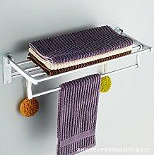 JinYiDian'Shop-Badezimmer Accessoires, Badezimmer oder Küche Handtuchhalter Halter Wandhalterung Storage Rack, Organisieren Sie alle Regal mit Handtuchhalter, Handtuchhalter Edelstahl Handtuchhalter, 50 cm