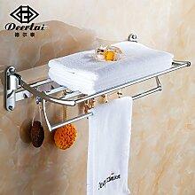 JinYiDian'Shop-Badezimmer Accessoires, Badezimmer oder Küche Handtuchhalter Halter Wandhalterung Storage Rack, Organisieren Sie alle Regal mit Handtuchhalter, Handtuchhalter, Edelstahl Doppel Handtuchhalter