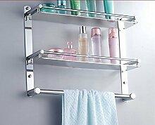 JinYiDian'Shop-Badezimmer Accessoires, Badezimmer oder Küche Handtuchhalter Halter Wandhalterung Storage Rack, Organisieren Sie alle Regal mit Handtuchhalter, Handtuchhalter Edelstahl Handtuchhalter 50 Cm