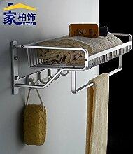 JinYiDian'Shop-Badezimmer Accessoires, Badezimmer oder Küche Handtuchhalter Halter Wandhalterung Storage Rack, Organisieren Sie alle Regal mit Handtuchhalter, Handtuchhalter Edelstahl Handtuchhalter Doppel Stange