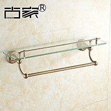 JinYiDian'Shop-Badezimmer Accessoires, Badezimmer oder Küche Handtuchhalter Halter Wandhalterung Storage Rack, Organisieren Sie alle Regal mit Handtuchhalter, Handtuchhalter, Handtuchhalter aus Messing 1 Schale 3.