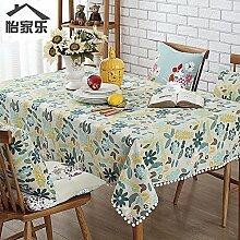 JinYiDian'Shop-Baumwolle Leinen Tuch, pastorale frische kleine Tabelle Tabelle, Quadrat rechteckige Tischdecke, single, A, 140