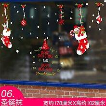 JinYiDian 'Shop-Das Restaurant Geschäfte Dekorationen Netsuke Tapete Kirchenfenster Plakate Milch Tee Shop Windows verschieben Tür Aufkleber Schneeflocke, 6.178 * 102 Cm