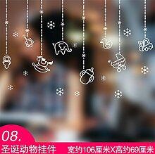 JinYiDian 'Shop-Das Restaurant Geschäfte Dekorationen Netsuke Tapete Kirchenfenster Plakate Milch Tee Shop Windows verschieben Tür Aufkleber Schneeflocke, 8,106 * 69 Cm