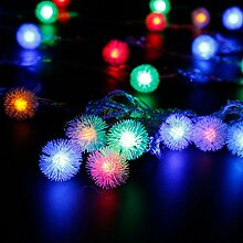 Jinyidian'Shop-Dekoration für Weihnachten Lichter, 10 Meter, 100 Meter im Freien wasserdichte,10 Lampe warm weißen Kugeln