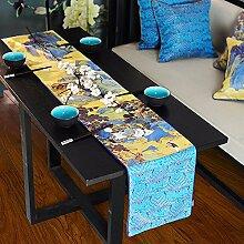 Jinyidian'Shop-Fabric Tabelle flag Landschaftsmalerei der Esstisch, Couchtisch, Air China Tischdecke Tischdecke Servietten am Ende des C